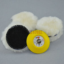 6x 3Inch Lambs Woolen Polishing Pad & Buffing Pad Buff for car polisher M6x1 T