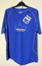 MENS CRAGHOPPERS DISCOVERY ADVENTURES SHORT-SLEEVED TEE DEEP BLUE, LARGE