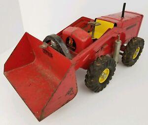 Vintage Nylint Red Pressed Steel Hough Payloader Front End Loader Tractor Toy