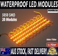 20x 12V Waterproof LED Strip Module Lights Amber For Car Boat Caravan Camping