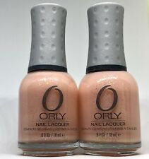 Orly Nail Polish ROBO ROMANCE 40635 Baby Pink w Sliver Glitter Lacquer