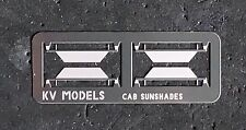 ETCHED DIESEL CAB SUNSHADES 2 PAIR HO SCALE KV MODELS KV-1002H