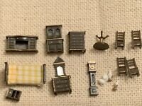 Vintage Miniature Doll House Furniture Accessories For Dolls house Bedroom Dine