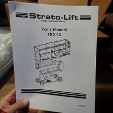STRATO-LIFT TRX-13 PARTS MANUAL, PMV-0100, TRX13, STRATOLIFT, MANUAL 105A