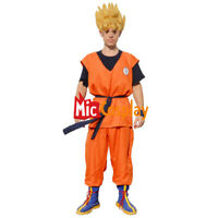 Dragon Ball Goku Cosplay Costume Outfit Orange Super Saiyan and Boots Cover