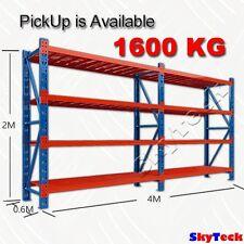4M Garage Steel  Garden Storage Warehouse Shelves Shelving Rack 1600kg H1-4020BO