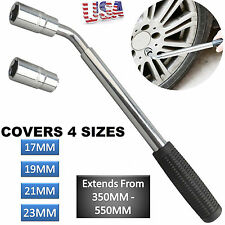 Car Van Brace Extendable Wheel Socket Tyre Lug Nut Wrench 17mm 19mm 21mm 23mm