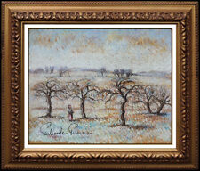 Paul Emile Pissarro Pastel Painting Original Signed Landscape Authentic Artwork