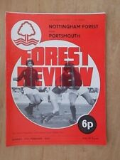 NOTTINGHAM FOREST v PORTSMOUTH 17th FEBRUARY 1974 1973-74 F.A. CUP