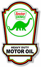 """24"""" X 14.3"""" SINCLAIR GASOLINE LUBSTER FRONT DECAL LUBESTER OIL CAN / GAS PUMP"""