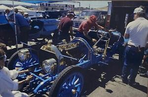 Vintage Photo Slide 1987 Blue Car Show Mechanic