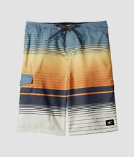 $95 O'Neil Orange Quick Dry Lennox Striped Board Shorts Swimwear Men's Sz 32