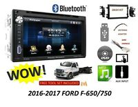 2016-2017 Ford F-650/750 Bluetooth touchscreen DVD CD USB CAR STEREO