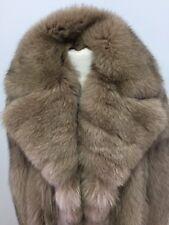 $8000 GENUINE LIGTH BROWN NORWEGIAN FOX FUR COAT FOR MEN LENGTH 31 Inch Sz. 3XL