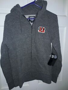 Cincinnati Bengals football Hooded Sweatshirt Jacket NFL  shirt NEW - Ladies M