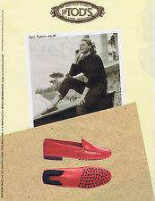 PUBLICITE ADVERTISING 084 1995 J.P.TOD'S chaussures avec Ingrid Bergman