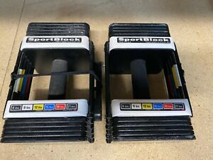 Sportblock Powerblock 3 to 21lb Adjustable Weights Set of 2 Home Workout