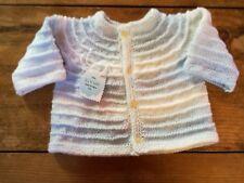 Jersey- chaqueta de punto para be´bebé hecha a mano 0-6 meses