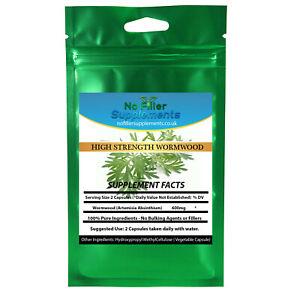 NoFillerSupplements Wormwood Vegetable Capsules Artemisia Absinthium
