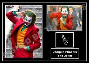 STUNNING QUALITY JOAQUIN PHOENIX  SIGNED THE JOKER SIGNED AUTOGRAPHED PRINT