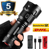 80000lm Shadowhawk USB Flashlight CREE L2 LED Military*Tactical Torch 26650