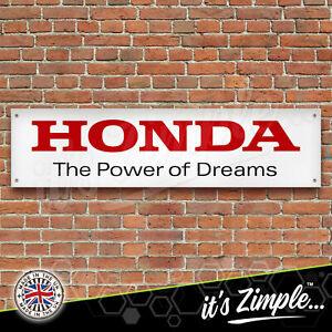 HONDA POWER OF DREAMS Garage Workshop Banner PVC Sign Display Motorsport