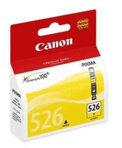 Genuine Unused Original Canon CLI-526 Yellow Ink cartridge