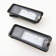 Qty 2 12V LED license Plate Light Lamp For VW CC Polo 6R Golf MK7 Passat Amarok