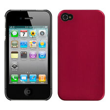 For iPhone 4s/4 Metallic Red Blendy Hard Back Phone Protector Cover Case