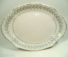 """APOLLO by W S George Radisson China 13 5/8"""" Oval Serving Platter Nice! Minty !!"""