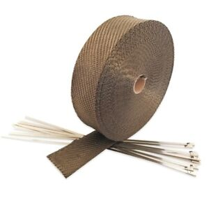Exhaust Thermal Heat Wrap Manifold Insulating Header Tape Wrap 5cm x 10m - Gold