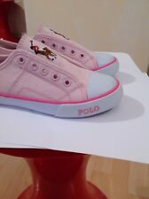Polo Ralph Lauren Girl's Pink Shoes Size 10 UK Infant Brand New