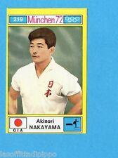 MUNCHEN/MONACO '72-PANINI-Figurina n.219- NAKAYAMA - GIAPPONE -GINNASTICA-Rec