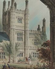 Antique English Watercolor Painting John Edwin Oldfield East Barsham Norfolk 2D