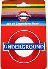 (London) Underground roundel iron-on cloth patch (ba)