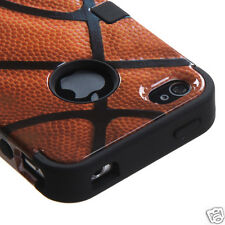 APPLE iPHONE 4 4S MULTI LAYER TUFF HYBRID CASE ACCESSORY BASKETBALL