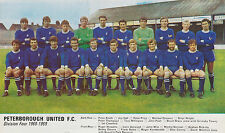 PETERBOROUGH UNITED FOOTBALL TEAM PHOTO>1968-69 SEASON