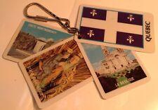 Vintage Keychain QUEBEC CITY PICTURES Ancien Porte-Clés VILLE DE QUEBEC QC