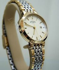 Rotary Ladies Quartz Gold & Silver Two Tone Bracelet Watch Lb03497 03