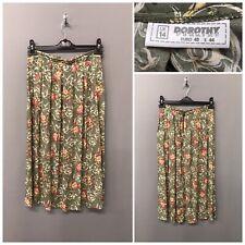 Vintage Dorothy Perkins Green Floral Skirt UK 14 EUR 40
