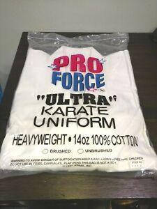 ProForce White 14 oz. Karate Uniform Professional Jacket size 3 100% Cotton