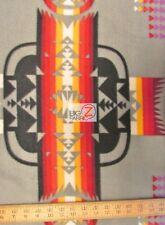 AZTEC INDIAN NAVAJO POLAR FLEECE FABRIC - Gray - ANTI PILL TRIBAL 385 GM FH-92