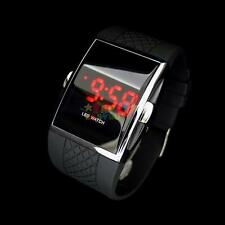 Black Luxury Men's Fashion LED Digital Date Sports Quartz Casual Wrist Watch