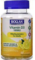 Bioglan Vitamin D3 1000 IU -  60 Soft Gum Bones, Teeth, Immune system