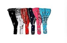 6 pieces Woman Cotton Bandana Paisley Headband Wrap Hair Accessories /Free Ship