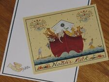 Ellen Stouffer Art - Noah's Floating Ark - 1992 Main Street Press Note Cards 5ct