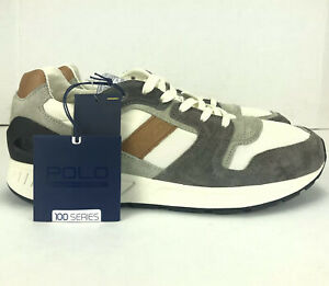 Polo Ralph Lauren Mens Train 100 Casual Shoes Grey Suede CLS-SK-ATH Size 10