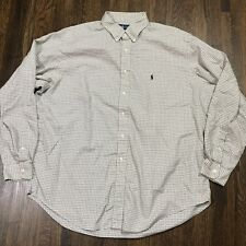 Ralph Lauren Mens Button Down Size 17.5 36/37 Yarmouth Long Sleeve