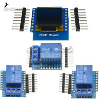 "WeMos D1 0.66"" Mini Wifi 1CH Relay Shield 5/12V OLED I2C IIC for ESP8266 Arduino"