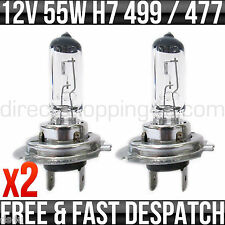 RENAULT CLIO (2001 - 2006) 12V 55W PX26D H7 499 HEADLIGHT BULBS 2 PIN x 2